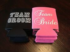 ***Team Bride & Groom Wedding Koozies for Bachelor Bachelorette**5 each*****