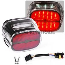 Motor Red LED Rear Tail Light w/License Plated Lamp For Harley Dyna Road King CT