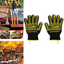 MANSOV Silicone Heat Resistant Oven Grill Gloves Mitts for BBQ Baking Microwave