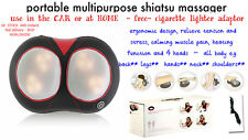 shiatsu heated back leg multipupose massager full body massager infrared car
