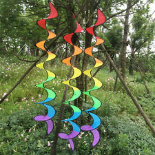 Colorful Rainbow Spiral Windmill Wind Spinner Camping Tent For Garden Decor