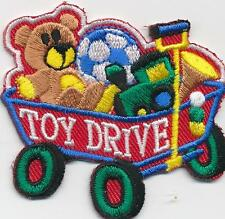 Boy Girl Cub TOY DRIVE Wagon Donation Fun Patches Crests Badge GUIDE SCOUT gift