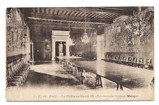 pau  le château henri IV    la grande salle à manger
