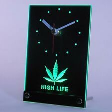 Cannabis Maijuana Marijuana Chanvre Haschich Mauvaises herbes LED Table Clair