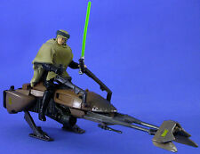 Star Wars Potf Deluxe Suelto Raro Speeder Bike Con Luke Skywalker en Endor Gear.