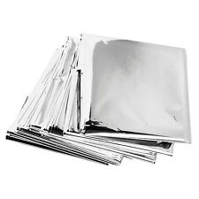 "Lot of 12 Emergency Mylar Rescue Space Thermal Blankets 62"" x 82"""