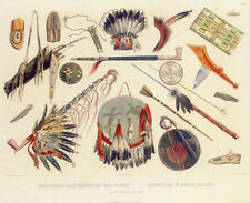 Indian Utensils and Arms 15x22 Karl Bodmer Native American Indian Art