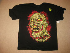 UNIVERSAL ORLANDO HALLOWEEN HORROR NIGHTS HHN 25  ZOMBIE GLOW IN DARK XL T SHIRT