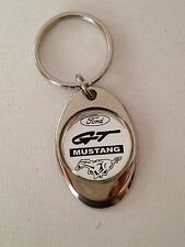 Ford Mustang GT Keychain Chrome Metal Key Chain