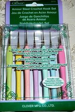 Clover Amour STEEL Crochet Hook Set - 7 Hook Sizes - Item #3675
