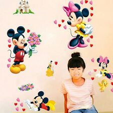 Mickey Minnie Mouse Wall Stickers Decal Removable Kids Art Nursery Room Decor