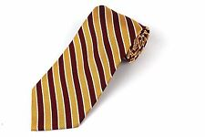 BROOKS BROTHERS Makers Silk Tie Striped Necktie Burgundy Gold