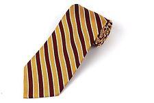 BROOKS BROTHERS Makers Silk Tie Striped Necktie Burgundy Gold