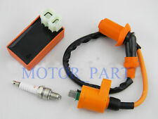 6 pin AC CDI+Ignition Coil +Spark Plug Fit GY6 50cc-150cc Moped Scooter Go Carts