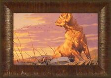 DAY'S END by Taylor Oughton Golden Retriever Dog Duck Decoy 11x15 FRAMED PRINT