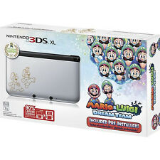 Mario Luigi Dream Team Limited Edition Silver Nintendo 3DS XL Console NTSC