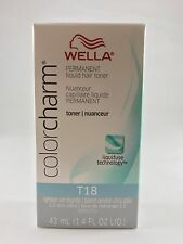 100% Authentic Wella Color charm Hair Toner 1.42 oz - T18 Lightest Ash Blonde