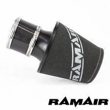 Ramair Negro Medio De Aluminio inducción Filtro De Aire Universal Con 90mm acoplamiento