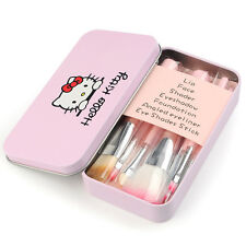 BNWOT Hello Kitty 7PC Cosmetic/Make UpBrush Set in tin can - Pink CUTE :)