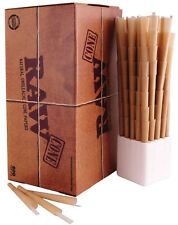 RAW Prerolled CONES 800 ct KING SIZE Natural Classic Rolling Papers W Hemp Tips