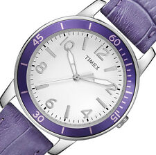 PRE-OWNED $54.95 Timex Women's Ameritus Petunia Croco Watch T2P052 NO BOX
