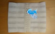 Steel Boned Slimming Training Belt Body Cincher Corset Size Large / 10 Nude UK