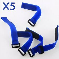 5X Blue 30cm LiPo Battery Pack Straps Tie Down Reusable Straps Bands Cables