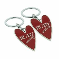 40th Ruby Wedding Anniversary Metal Keyrings Great Gift Ideas