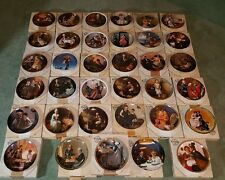 REDISCOVERED WOMEN NORMAN ROCKWELL PLATES~LOT OF 35 COA