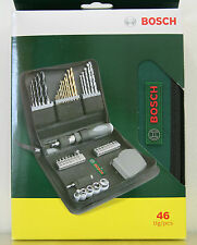 Bosch Multi-Purpose Power Bit Set 46pcs - Driver Drill Bits Wood concrete metals