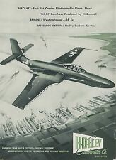1952 Holley Carburetor Co. Ad McDonnell F2H-2P Banshee Photographic Jet Navy
