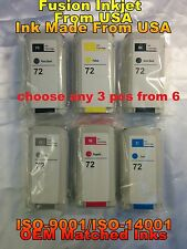 compatible any 3 from 6 HP 72 ink tank HP Designjet T620 T1200 t790 t1300 t795