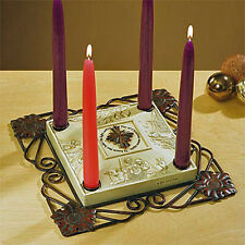 "Abbey Press ""Star of Christmas"" Advent Candleholder With Four Advent Candles"