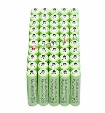 50 pcs AAA 1.2V 1800mAh rechargeable battery green