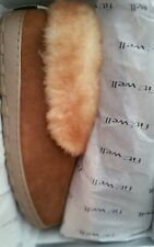 Fitzwell Men's Jerry Genuine Leather Shearling Slippers Bootie Allspice Size 16W