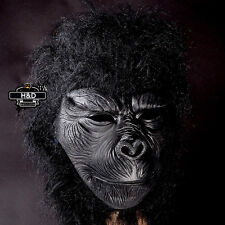Latex Full Head Gorilla Mask Scary Halloween Prop Masquerade Fancy Dress Costume