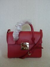 NWT FURLA Ruby Red Saffiano Leather Small Metropolis Satchel Bag $448