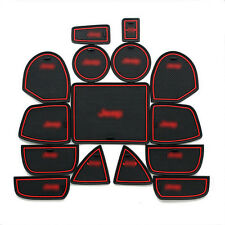 Interior Door Mat Cup Pads Holder 15pcs For Jeep Grand Cherokee 2011-2015