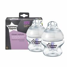 Tommee Tippee Advanced Comfort Feeding bottles 0m+  150ml x2 bpa free