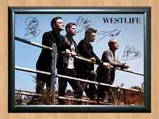 Westlife Mark Feehily Shane Filan Kian Signed Autographed A4 Print Poster Photo