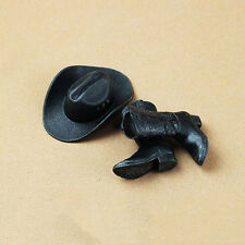HOT FIGURE TOYS 1/6 cowboy hat and Cowboy boots high quality