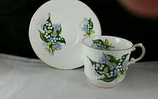 "Queens English Bone China Teacup and Saucer ""Lily of the Valley'"