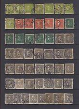 SWEDEN #185-188 Used Lot of 51 KING GUSTAF V 1925 SCV $70