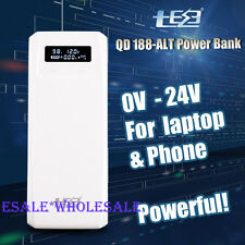 12v/24v 85W Portable 18650 Battery Mobile Power Bank tool charger Pack Laptop