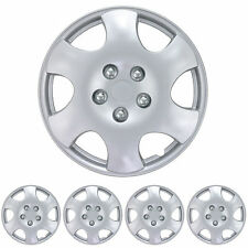 """15"""" Hubcaps 4 Piece OEM Replacement Durable ABS Material Snap On Fit Wheel Cap"""