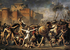 Oil painting Jacques-Louis David - The Intervention of the Sabine Women War 48""