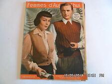 FEMMES D'AUJOURD'HUI AVEC PATRON PYJAMA POUR DAME N°272 20 JUILLET 1950      F95
