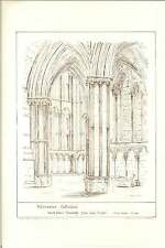 1884 Worcester Cathedral North Choir Transept Jb Phillips Architectural Artwork