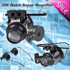 Glasses Type 20X Watch Repair Magnifier with LED Light OY