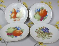 Set of 4 vintage SCHUMANN ARZBERG bone china fruit cheese dessert 19 cm plates.
